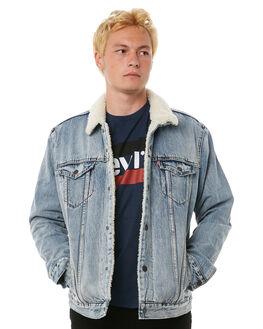 BLUE MENS CLOTHING LEVI'S JACKETS - 16365-0049