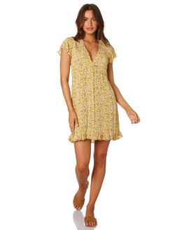 MARIGOLD FLORAL WOMENS CLOTHING RHYTHM DRESSES - QTM19W-DR26MRGLD