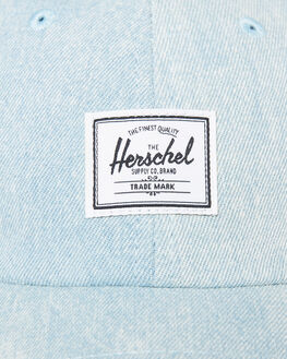 BLEACHED DENIM MENS ACCESSORIES HERSCHEL SUPPLY CO HEADWEAR - 1059-0829-OSBLDEN