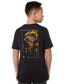 BLACK BLACK KIDS BOYS HURLEY TOPS - BQ1494010