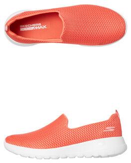 CORAL WOMENS FOOTWEAR SKECHERS SLIP ONS - 15600CRL