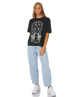 BLACK WOMENS CLOTHING SANTA CRUZ TEES - SC-WTA0100BLK