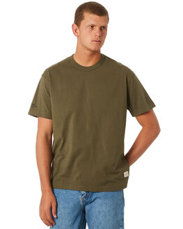ARMY GREEN MENS CLOTHING THRILLS TEES - TW9-101FARMGN