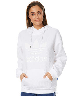 WHITE WOMENS CLOTHING ADIDAS ORIGINALS JUMPERS - BJ8313WHT