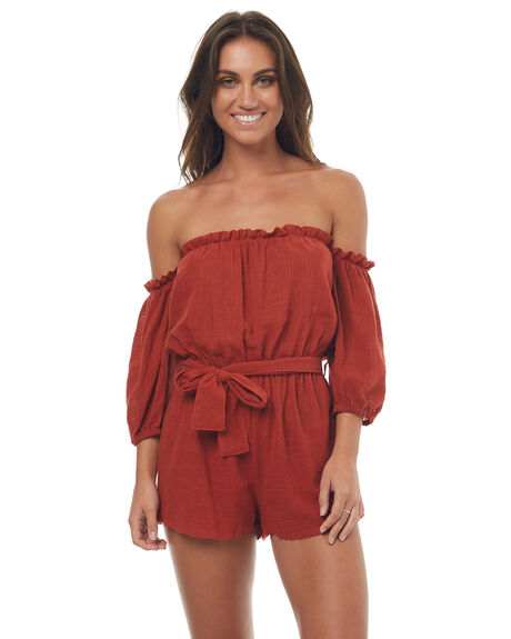 RED RUST WOMENS CLOTHING RUE STIIC PLAYSUITS + OVERALLS - SO1707YREDR