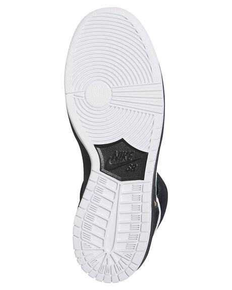BLACK WHITE MENS FOOTWEAR NIKE SKATE SHOES - BQ6826-001