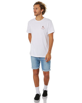 WHITE MENS CLOTHING MR SIMPLE TEES - M-01-34-28WHI