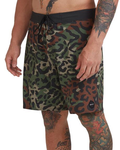 CHEETAH CAMO MENS CLOTHING RVCA BOARDSHORTS - R307406-CTC