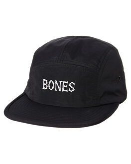 BLACK MENS ACCESSORIES BILLY BONES CLUB HEADWEAR - BBCHAT021BLK