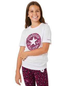 WHITE KIDS GIRLS CONVERSE TOPS - R46A367001
