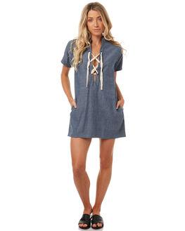 MID BLUE WOMENS CLOTHING LILYA DRESSES - CHD03-LSP17MBLU