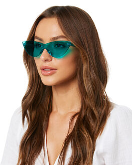 TRANSPARENT AQUA WOMENS ACCESSORIES BOND EYE SUNGLASSES - BES014AQU