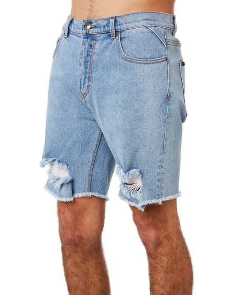 THRIFTED BLUE MENS CLOTHING RUSTY SHORTS - WKM0886THB