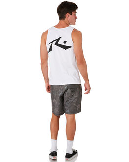 WHITE MENS CLOTHING RUSTY SINGLETS - TSM0409WH3