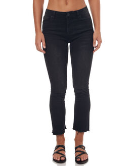 WASHED BLACK WOMENS CLOTHING RES DENIM JEANS - RW0948WAS