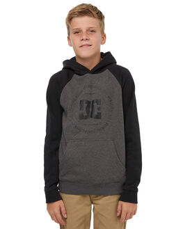 BLACK CHARCOAL HEATH KIDS BOYS DC SHOES JUMPERS + JACKETS - EDBSF03079XKKK