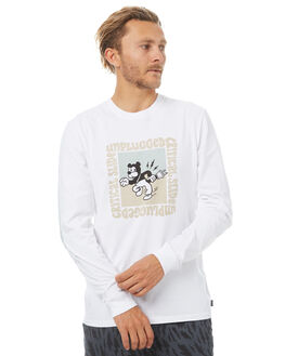 WHITE OUTLET MENS THE CRITICAL SLIDE SOCIETY TEES - SAT1723WHT