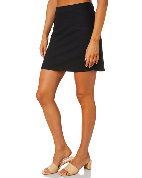 BLACK WOMENS CLOTHING SWELL SKIRTS - S8213472BLK