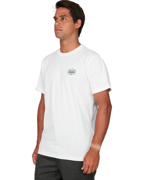 WHITE MENS CLOTHING RVCA TEES - RV-R106058-WHT