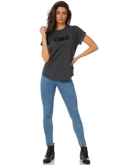 CHARCOAL WOMENS CLOTHING C&M CAMILLA AND MARC TEES - SCMT6453CHAR