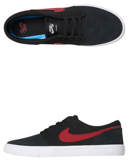 BLACK RED WOMENS FOOTWEAR NIKE SNEAKERS - SS880266-006W