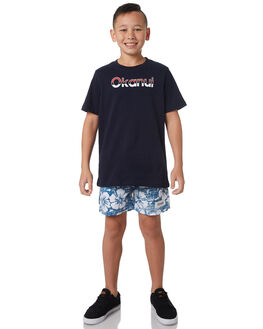 BLUE KIDS BOYS OKANUI BOARDSHORTS - OKCK1817BU
