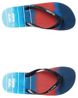 NAVY RED MENS FOOTWEAR BILLABONG THONGS - 9671932NRD