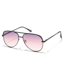 BLACK PURPLE FADE WOMENS ACCESSORIES QUAY EYEWEAR SUNGLASSES - QW-000427BLKPU