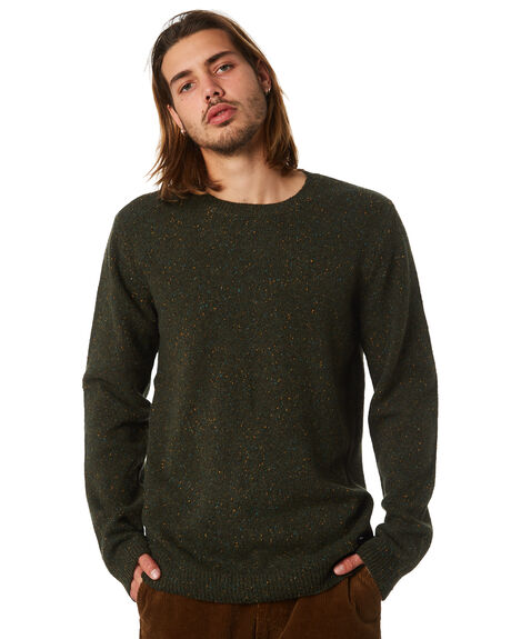 CAMO GREEN MENS CLOTHING DR DENIM KNITS + CARDIGANS - 1631154337