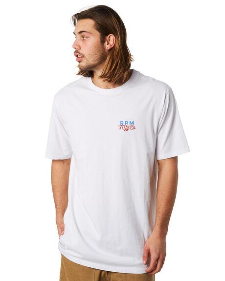 WHITE MENS CLOTHING RPM TEES - 8PMT04AWHT