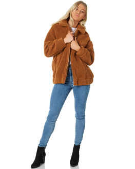 TAN WOMENS CLOTHING ALL ABOUT EVE JACKETS - 6415043TAN