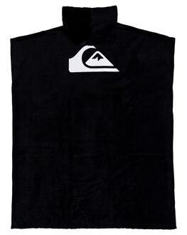 BLACK MENS ACCESSORIES QUIKSILVER TOWELS - EQYAA03842-KVJ0