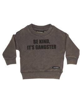 WASHED GREY KIDS BABY ROCK YOUR BABY CLOTHING - BBH187-BKWSHG