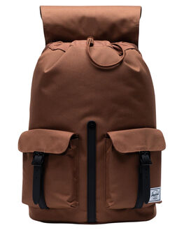 SADDLE BROWN BLACK MENS ACCESSORIES HERSCHEL SUPPLY CO BAGS + BACKPACKS - 10233-03273-OSSBB