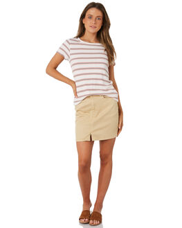 WHITE WOMENS CLOTHING BILLABONG TEES - 6571131WHT