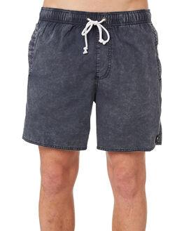NAVY ACID WASH MENS CLOTHING AFENDS BOARDSHORTS - M183356NAD