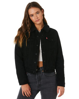 FOREVER BLACK WOMENS CLOTHING LEVI'S JACKETS - 36136-0012FBLK
