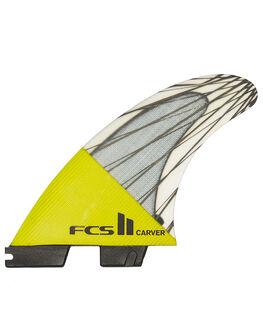 YELLOW SURF HARDWARE FCS FINS - FCAR-CC02-TS-RYELL