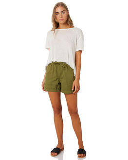 WASHED KHAKI WOMENS CLOTHING SWELL SHORTS - S8202236WKHA