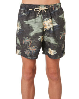 BLACK YELLOW KIDS BOYS RIP CURL BOARDSHORTS - KBOMX11640