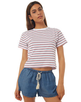 MULTI STRIPE WOMENS CLOTHING ALL ABOUT EVE TEES - 6403116MSTR