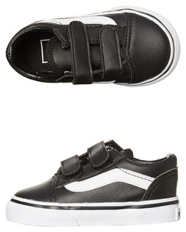 BLACK WHITE KIDS TODDLER BOYS VANS FOOTWEAR - VN-A38JNNQRBLK