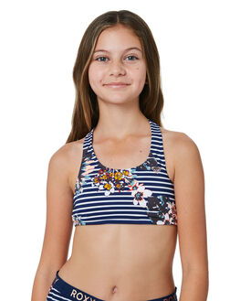 MEDIEVAL BLUE BDWALK KIDS GIRLS ROXY SWIMWEAR - ERGKT03091BTE6