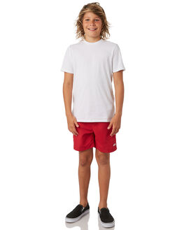 RED KIDS BOYS ZOGGS BOARDSHORTS - 6566031RED