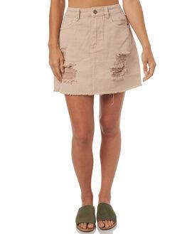 ROSE SMOKE WOMENS CLOTHING THRILLS SKIRTS - WTDP-316PRSMK