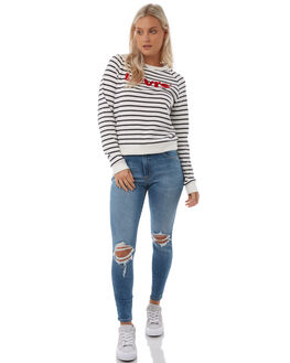 CLOUD DANCER BLUE WOMENS CLOTHING LEVI'S JUMPERS - 34769-0007CLDB