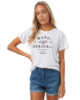 WHITE WOMENS CLOTHING TEE INK TEES - CAST80AWHT