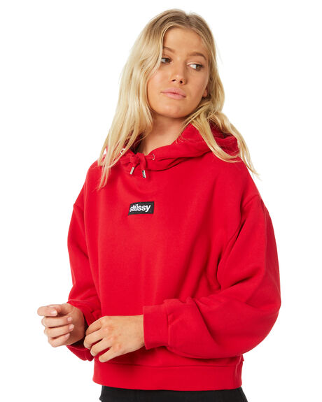 BRIGHT RED WOMENS CLOTHING STUSSY JUMPERS - ST186308BRRED