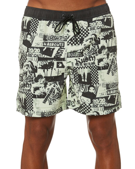 LIME GREEN MENS CLOTHING RUSTY BOARDSHORTS - BSM1508LMG