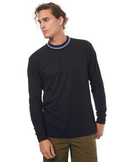 BLACK MENS CLOTHING POLAR SKATE CO. TEES - STRIPERIBBLK